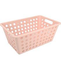 cesta one grande 28,8x19,1x12,3cm rosa blush - 10806/0467 - coza - coza