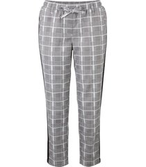 pantaloni cropped in twill a quadri con cinta comoda (argento) - bpc bonprix collection