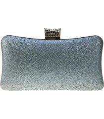 bolsa clutch liage festa brilhante pedraria metal brilho alça alcinha prata