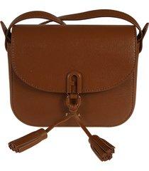 furla hanging tassel detail shoulder bag