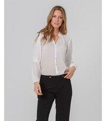 camisa semi transparente