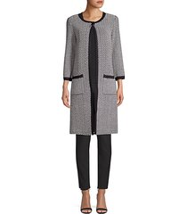 mod herringbone knit coat