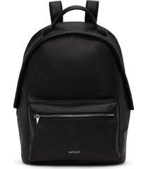 matt & nat bali backpack, black shiny nickel