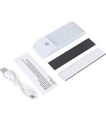 home lámpara led armario dormitorio sala luz banda magnética portátil blanco de luz del sensor