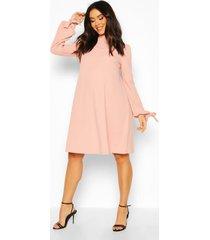 maternity tie sleeve smock dress, dusky pink