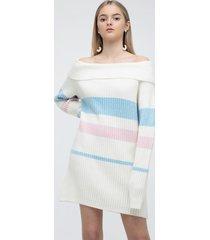 sweter off-shoulder długie rękawy