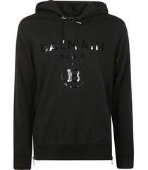 balmain round logo hoodie