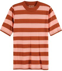 top striped high neck roze