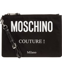 moschino logo all over document holder