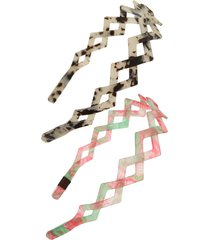 tasha assorted 2-pack headbands in pink/white at nordstrom