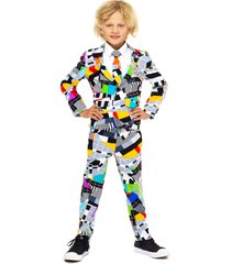 boy's opposuits testival two-piece suit with tie (toddler, little boy & big boy)