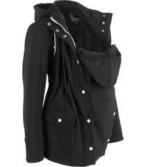 giacca prémaman in softshell con con inserto babywearing (nero) - bpc bonprix collection