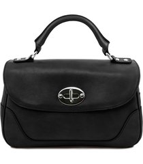tuscany leather tl141227 tl neoclassic - bauletto piccolo in pelle nero