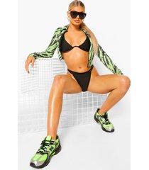 essentials bikini top met beugel en v-inkeping