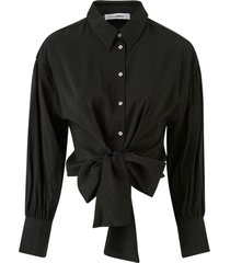 blus remi band tie shirt