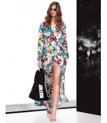 sukienka hippie w kwiaty