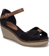 elba 40d* sandalette med klack espadrilles svart tommy hilfiger