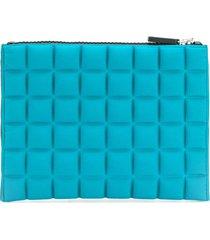 no ka' oi medium grid textured pouch - blue