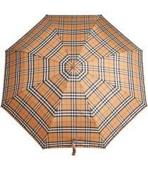 burberry guarda chuva com xadrez clássico - amarelo