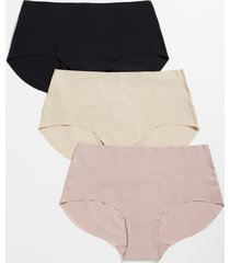 maurices plus size womens 3 pack neutral brief seamless pantsies pink