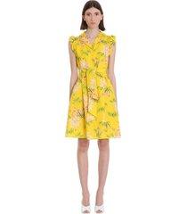 kenzo dress in yellow cotton