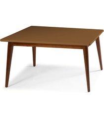 mesa de madeira retangular 160x90 cm novita 609-2 cacau/marrom médio - maxima
