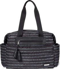 bolsa maternidade skip hop - coleção riverside ultra light satchel - black dot - kanui