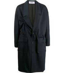 chalayan drawstring waist trench coat - blue