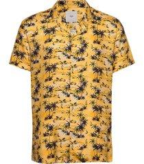 emanuel overhemd met korte mouwen geel minimum