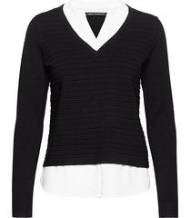 knitted pullover long 1/1 slee gebreide trui zwart betty barclay