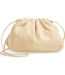 bottega veneta the mini pouch leather clutch - beige
