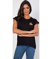 t-shirt myah lion preto