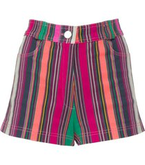 collins avenue striped shorts