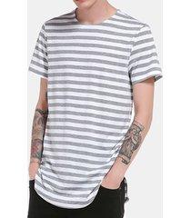 t-shirt in cotone casual a manica corta da uomo a manica corta con stampa hip-hop