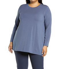 eileen fisher crewneck jersey tunic, size 3x in twilight at nordstrom