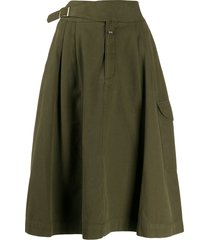 closed gerry cargo pocket midi skirt - green