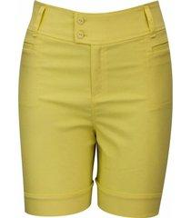 shorts pau a pique básico amarelo