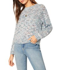 women's cupcakes and cashmere kaytie marl pullover, size medium - blue
