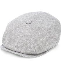 brunello cucinelli textured wide brim hat - grey