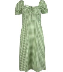 holland bow-tie gingham print dress
