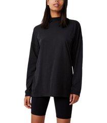 women's 90s longline drop shoulder long sleeve top