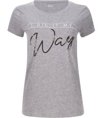 camiseta way color gris, talla s