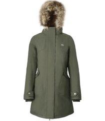 abrigo mujer aranesa verde doite