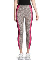 nanette lepore women's printed colorblock leggings - black - size l