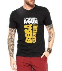 camiseta criativa urbana beba cerveja engraçadas