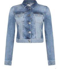jacket two tone denim