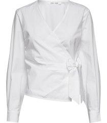 althea blouse 11055 blus långärmad vit samsøe samsøe