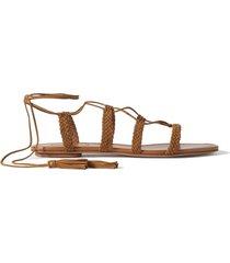 stromboli braided suede sandals