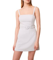 women's french connection belted straight neck dress