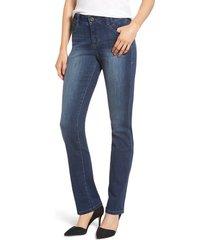 women's jag jeans ruby straight leg jeans, size 16 - blue